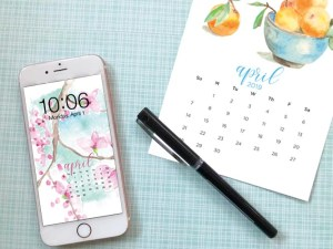 FREE digital backgrounds for April