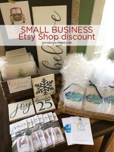 Small Biz WEEKEND – Etsy Shop Discount & FREE mini art print