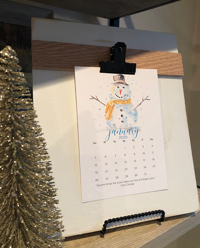 happy new year & a watercolor calendar discount
