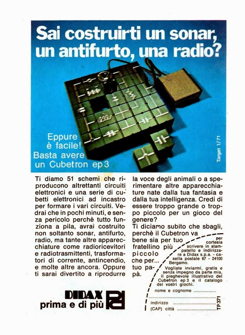 6 Cubetron Didax pubblicita topolino 836 anno 1971 | GrecTech