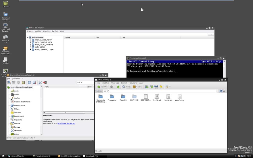 2018 11 18 19 59 35 ReactOS 0.4.10 VMware Workstation | GrecTech