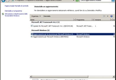 Windows 7 e Server 2008 R2: errore Invalid Handle