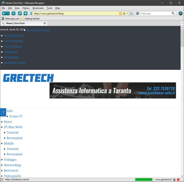 2019 04 26 22 19 31 Home   GrecTech Netscape Navigator | GrecTech
