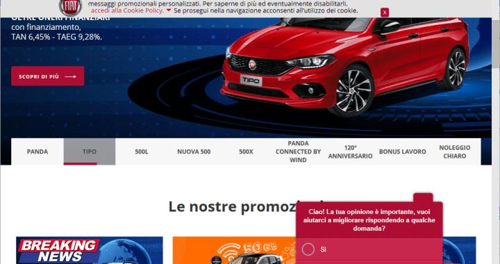 Sito Web Fiat con CMS Adobe.