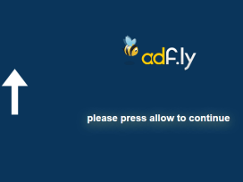"Schermata AdFly ""Please Press Allow to Continue"""