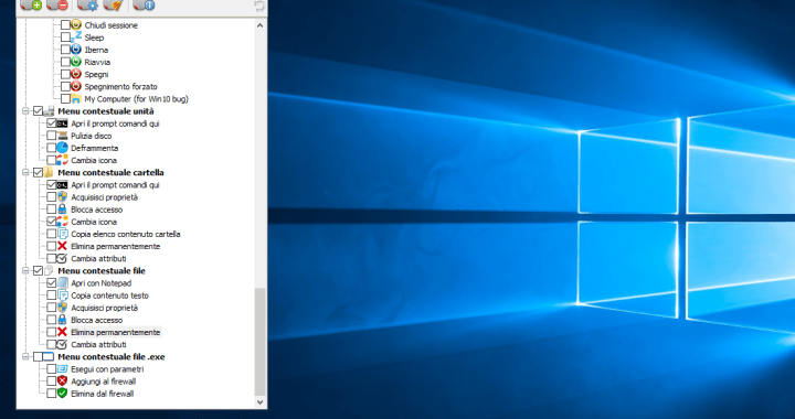 Software per personalizzare menu contestuali in Windows