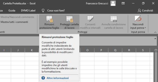 2019 10 27 22 40 10 Cartella Protetta.xlsx | GrecTech