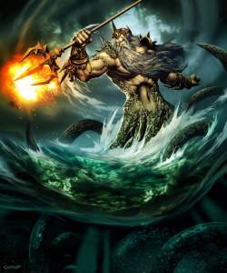 Poseidon (Neptune) Greek God - Art Picture by GenzoMan