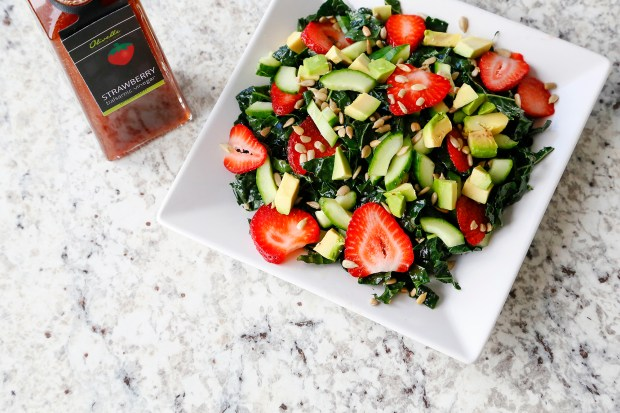Strawberry Kale Salad is a refreshing summer meal.