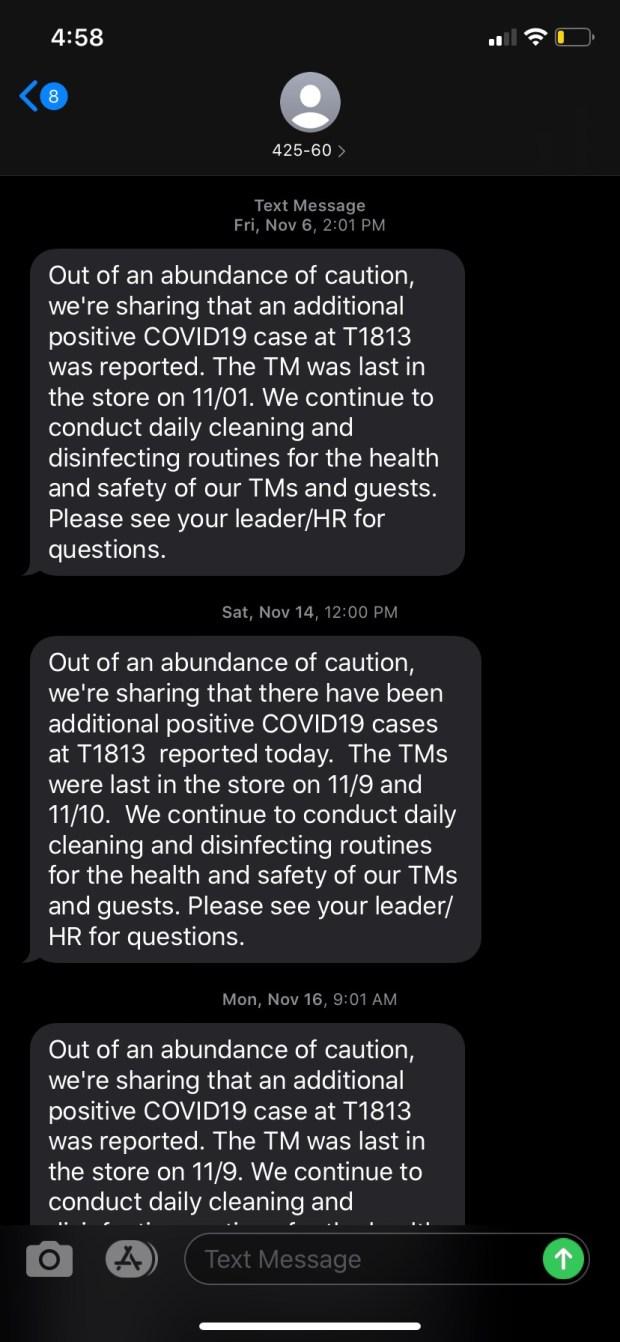 Target Greeley COVID-19 texts
