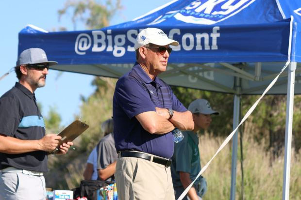 GREELEY, CO - JUNE 8: Northern Colorado men's golf coach Roger Prenzlow is seen watching the team compete at the 2021 Big Sky Golf Championship. Prenzlow announced his retirement on Tuesday, June 8, 2021, after serving with the Bears for nearly eight years. (Courtesy of the Big Sky Conference)