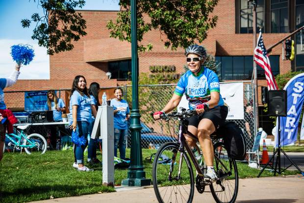 A cyclist rides at the 2016 Ride 4 Success. Three hundred fifty-five riders raised $44,860 for the Greeley-Evans School District 6 Success Foundation that year.
