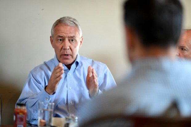 FORT COLLINS, CO - AUGUST 30: U.S. Rep. Ken Buck and fellow republicans discuss upcoming elections on Friday, August 30, 2019. (Photo by AAron Ontiveroz/The Denver Post)