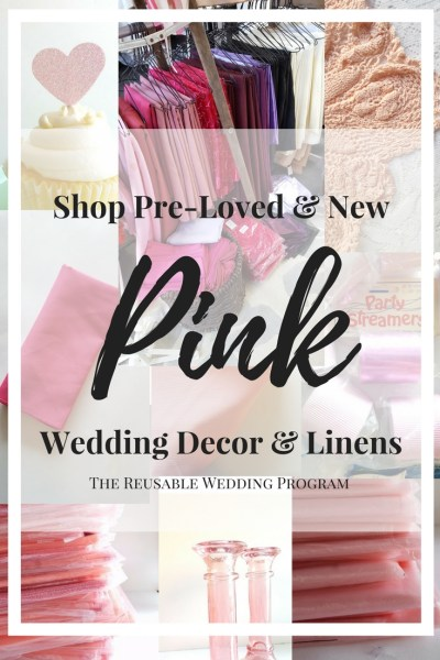 Shop Pre Loved New Pink Wedding Decorations Green Eyed Girl