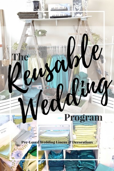 Buy Used & Discounted Wedding Decorations and Linens from The Reusable Wedding Program from Green-Eyed Girl Productions. Buy Used Wedding Decorations