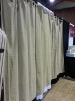 "Burlap Curtains- Three 84"" Panels"