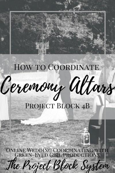 How to Coordinate Ceremony Altars, Wedding Planning Guide. Wedding Planning how To How to write a wedding ceremony