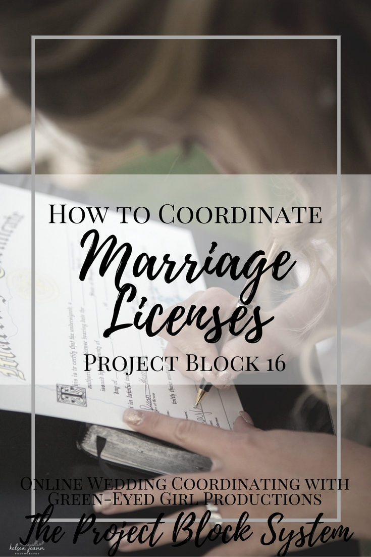 How to Coordinate Marriage Licenses | Project Block 16