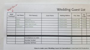 how to make your wedding guest list spreadsheet free download