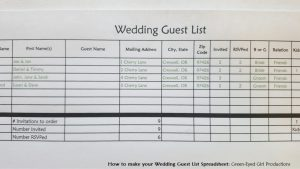 wedding spreadsheet guest list thevillas co