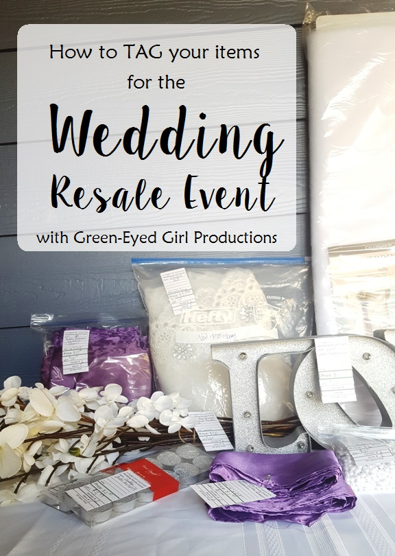 How to TAG your items for the Wedding Resale Event