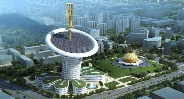 Biomimikra w architekturze - Wuhan New Energy Center biomimikra