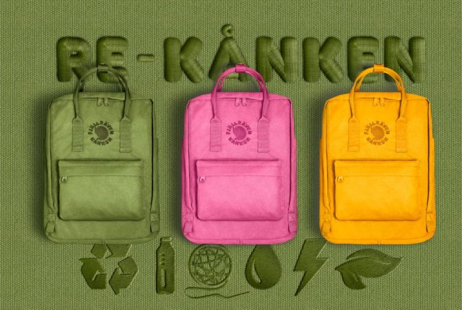ubrania akcesoria recykling plecak re-kanken