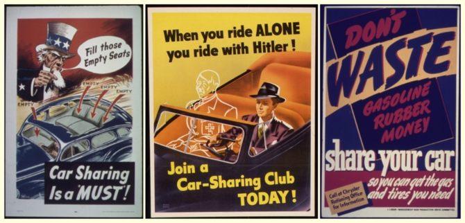 mobilność car-sharing plakat usa
