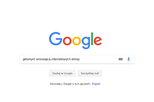 internet google emisje co2