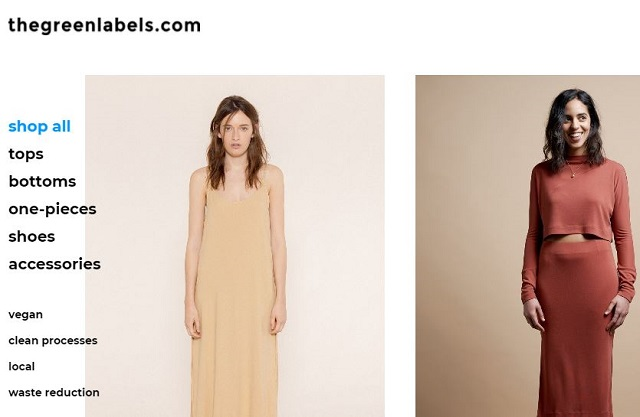 thegreenlabels.com, site-ul care vinde haine conform eco-fashion