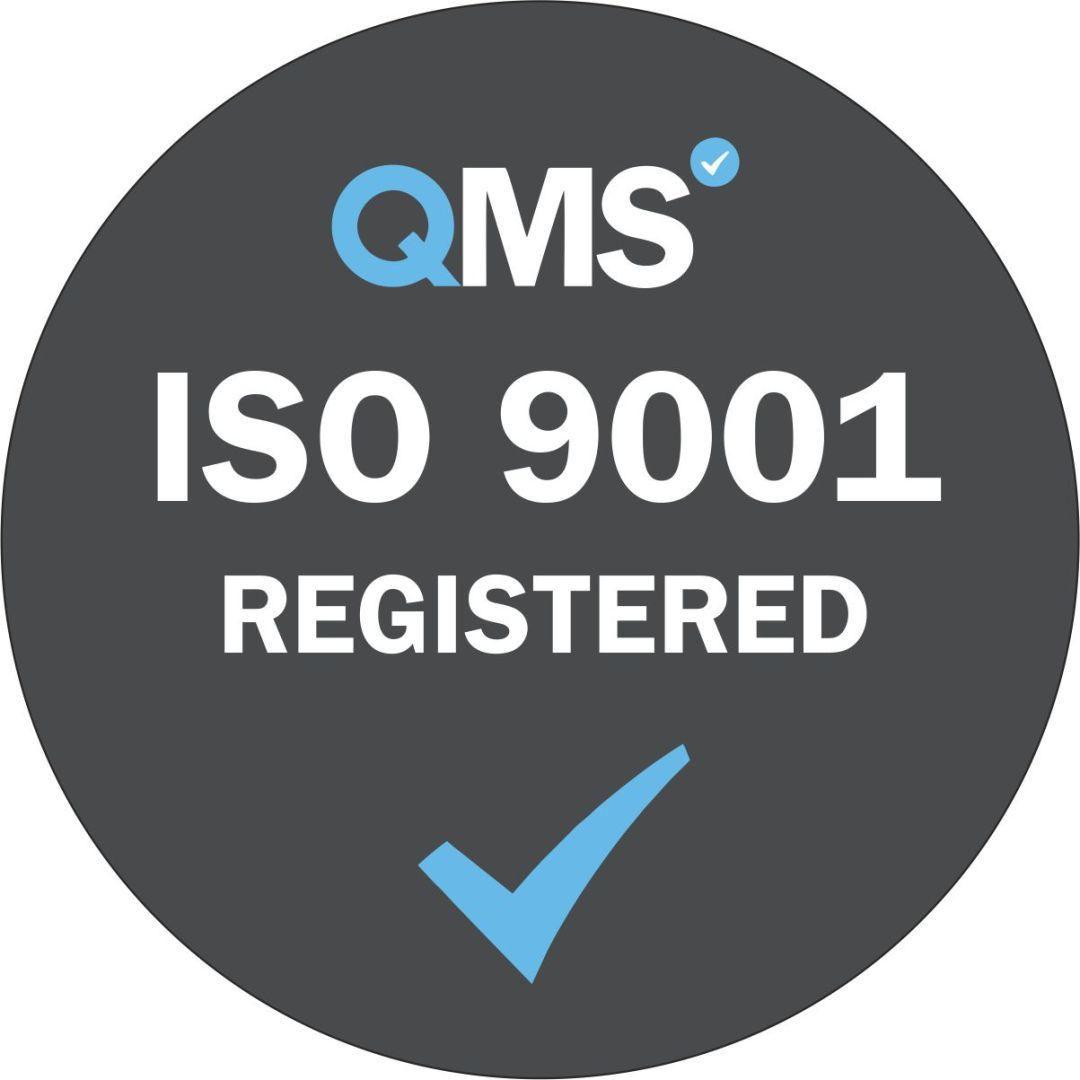 ISO 9001 Registered - Grey