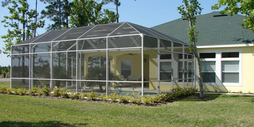 diy sunroom out of recycled materials