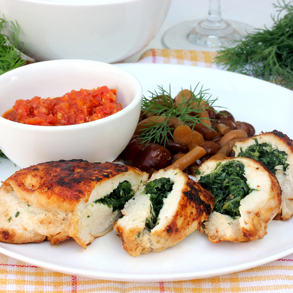 Chicken & Spinach in dill cream sauce