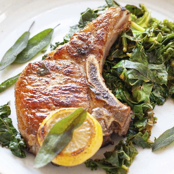 Seasoned Heritage Pork Loin Chops
