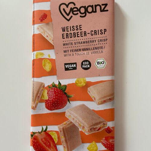 Vegan Veganz weisse erdbeer crisp