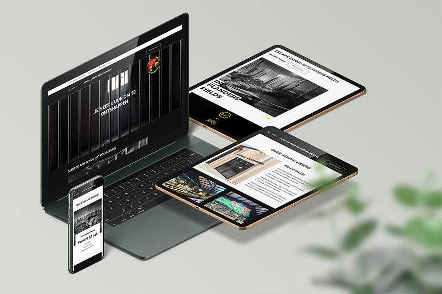 webdesign Atrium Mortis Escape Rooms