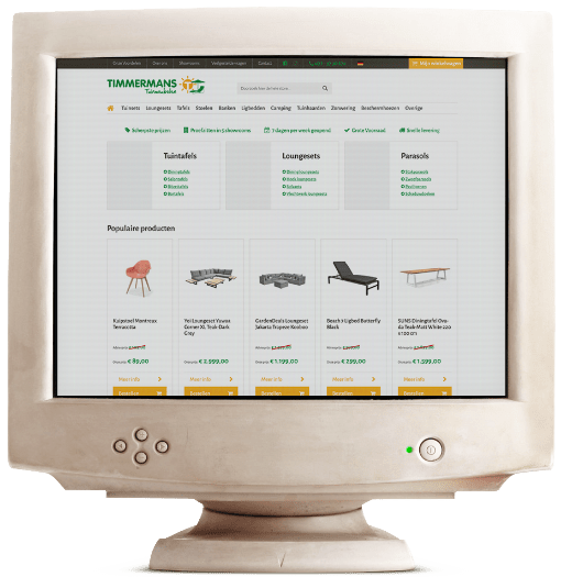 Timmermans Tuinmeubelen webshop oud