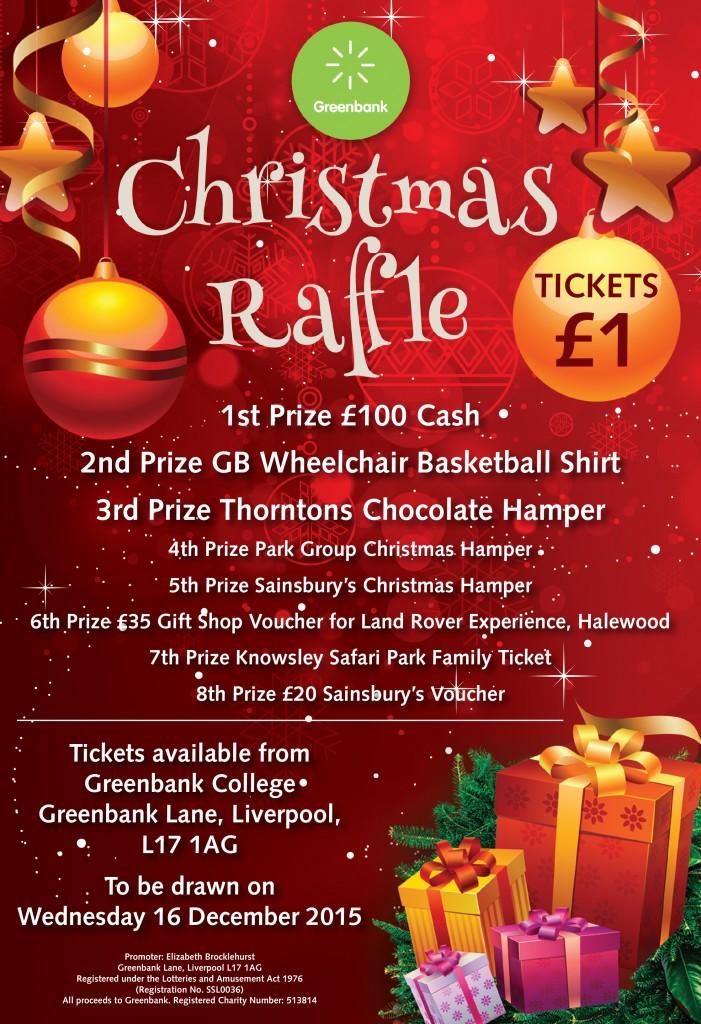 Greenbank Charitys Christmas Raffle Greenbank