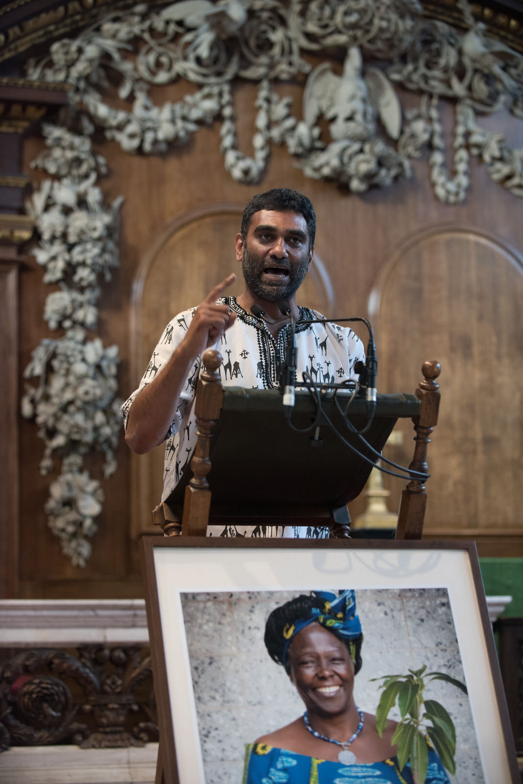 Kumi Naidoo, Executive Director of Greenpeace International gives his keynote address