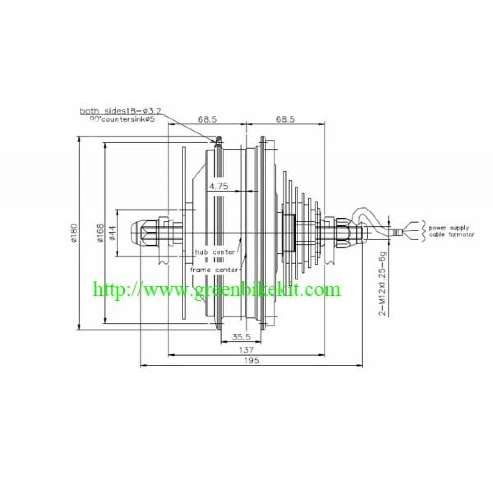 Hub Motor Bike Motor Brushless Motor For Electric Bike