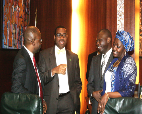L-R: Minister Of Justice And Attorney General Of The Federation, Mohhamed Adoke, Minister Of Agric, Akinwunmi Adeshina, Minister Of State For Foreign Affairs 2, Muhhamed Nurudeen And Minister Of State For Agric, Asabe Asmau Hammed.