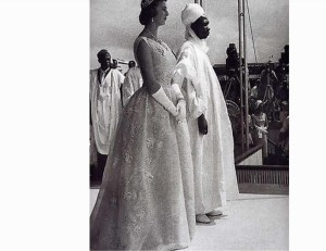 Queen Elizabeth and Tafawa Balewa