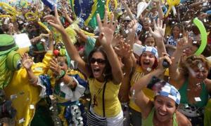 Brazilians celebrate