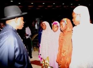 Jonathan meets chibok girls