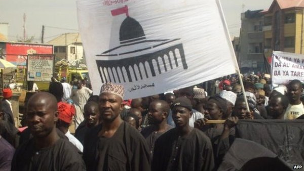 File Photo: Shia Muslims march through the streets of the northern Nigerian city of Kano