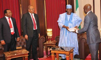 Jonathan recieves report on NNPC