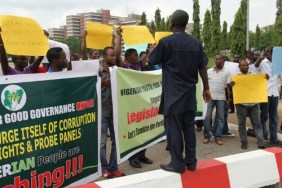 Youths protest at NASS