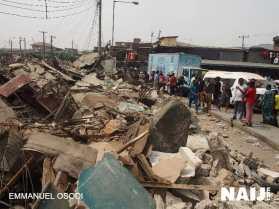 Lagos market demolished