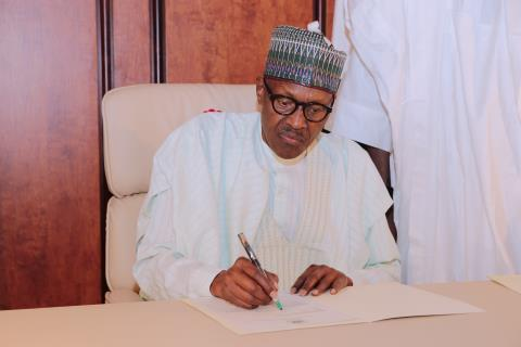 Buhari signs letter to National Assembly about resumption