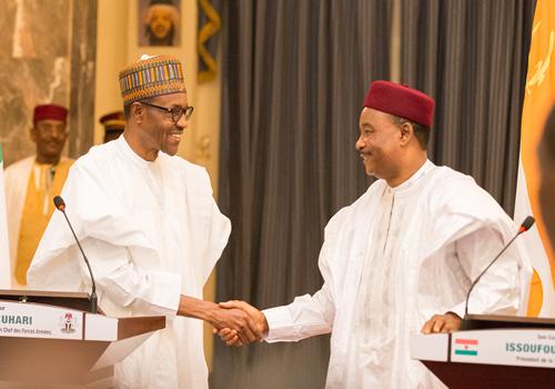 President Muhammadu Buhari and President of Niger, Alhaji Mahamadou Issoufou